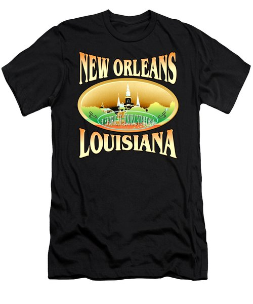 New Orleans Louisiana Tshirt Design Men's T-Shirt (Athletic Fit)