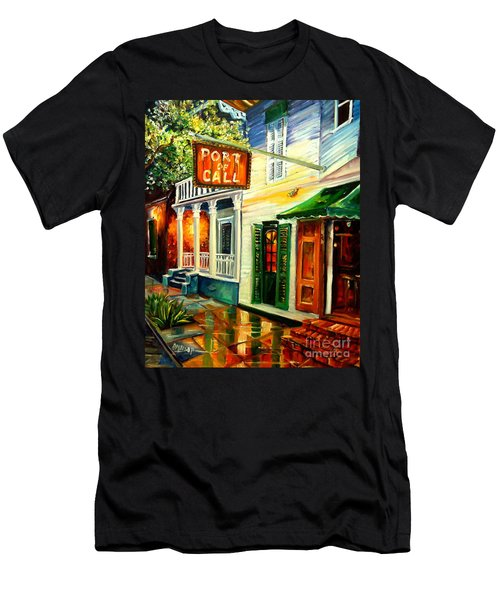 New Orleans Port Of Call Men's T-Shirt (Athletic Fit)