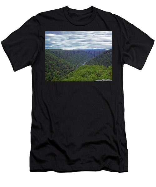 New River Bridge Men's T-Shirt (Athletic Fit)