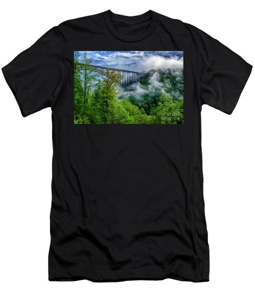 New River Gorge Bridge Morning  Men's T-Shirt (Athletic Fit)