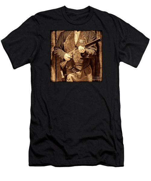New Sheriff In Town Men's T-Shirt (Slim Fit) by American West Legend By Olivier Le Queinec