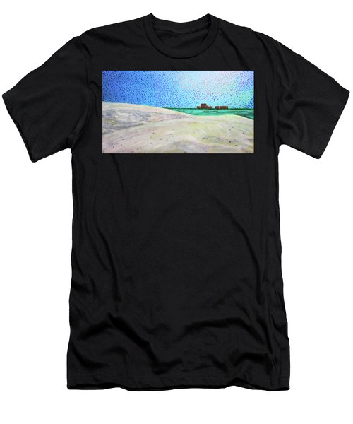 New Smyrna Beach As Seen From A Dune On Ponce Inlet Men's T-Shirt (Athletic Fit)