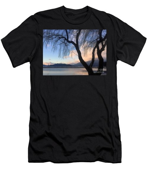 Men's T-Shirt (Athletic Fit) featuring the photograph New Willow by Victor K
