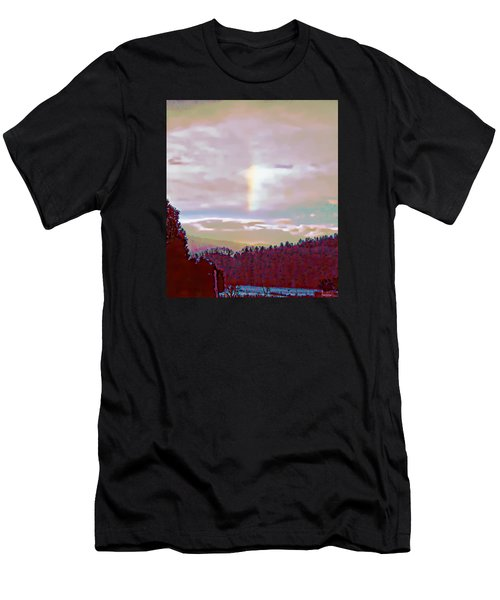 New Year's Dawning Fire Rainbow Men's T-Shirt (Athletic Fit)