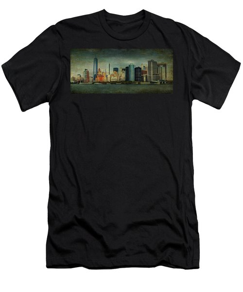 Men's T-Shirt (Slim Fit) featuring the mixed media New York After Storm by Dan Haraga