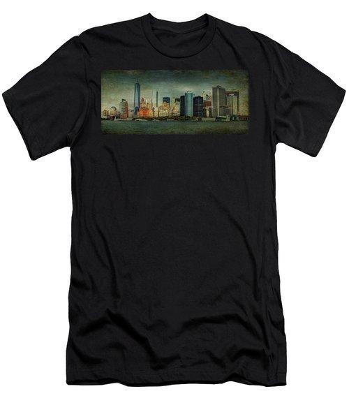 New York After Storm Men's T-Shirt (Slim Fit) by Dan Haraga
