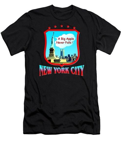 New York Big Apple Design Men's T-Shirt (Athletic Fit)