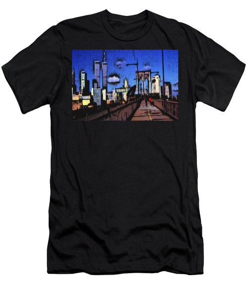 New York Blue - Modern Art Painting Men's T-Shirt (Athletic Fit)