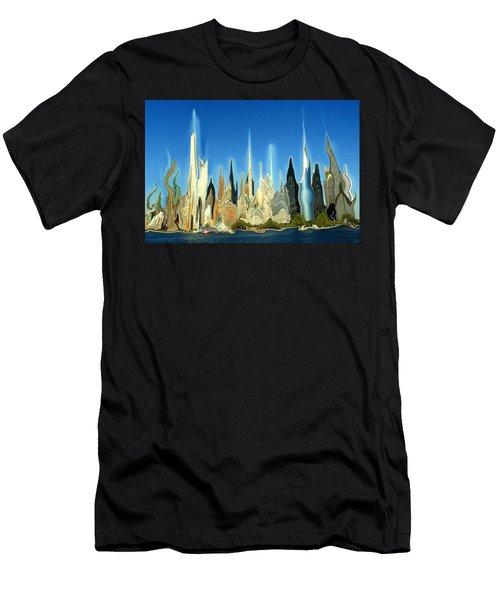 New York City Skyline 2100 - Modern Artwork Men's T-Shirt (Athletic Fit)