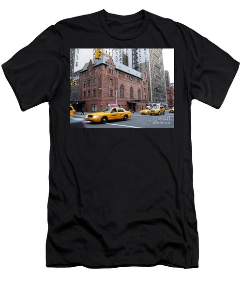 New York City Yellow Cab  - Amsterdam -  West Seventy Sixth Men's T-Shirt (Athletic Fit)