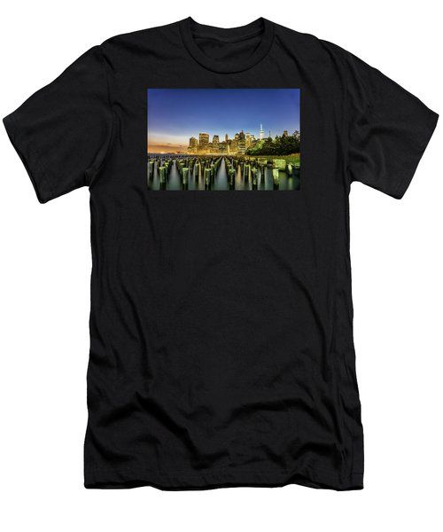 New York City From Brooklyn Men's T-Shirt (Athletic Fit)