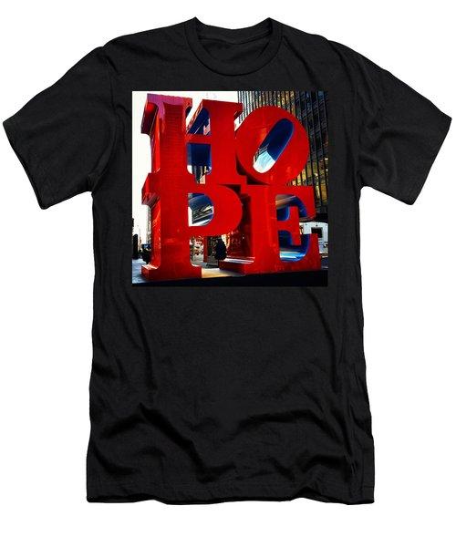 New York City - Hope Men's T-Shirt (Athletic Fit)