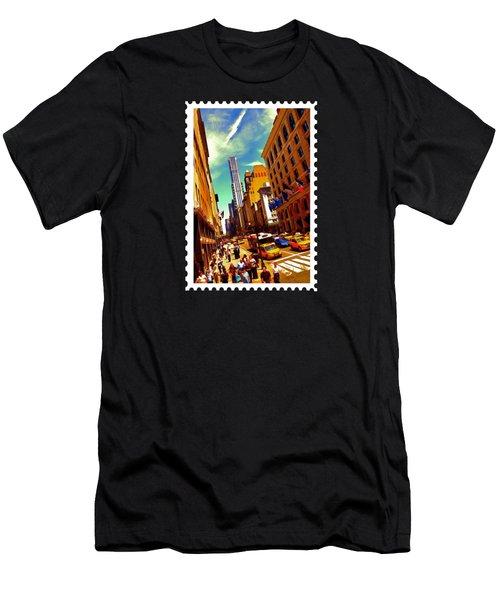 New York City Hustle Men's T-Shirt (Slim Fit) by Elaine Plesser