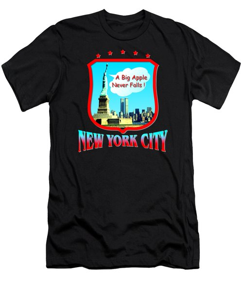 New York City Big Apple - Tshirt Design Men's T-Shirt (Slim Fit) by Art America Gallery Peter Potter
