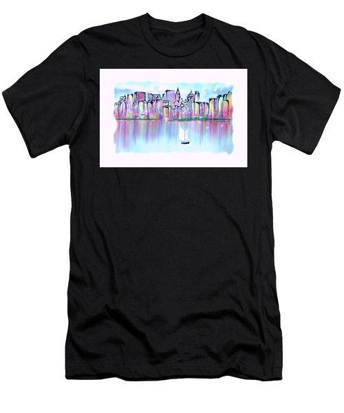 New York City Scape Men's T-Shirt (Athletic Fit)