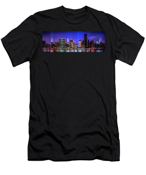 Men's T-Shirt (Athletic Fit) featuring the photograph New York City Shine by Theodore Jones