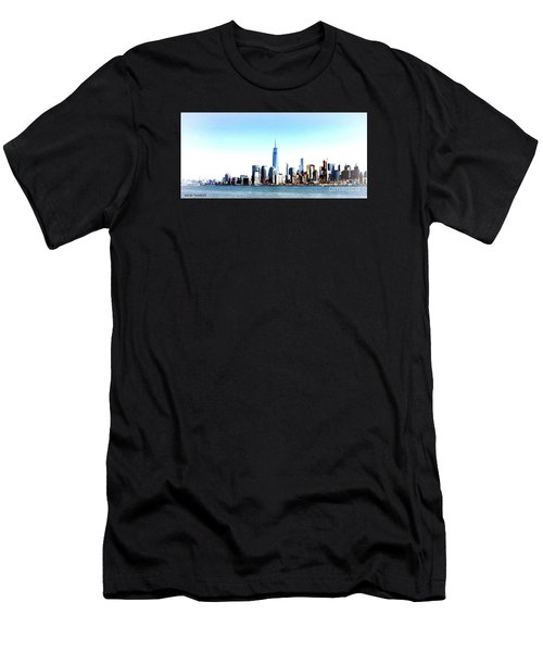 New York City Skyline Men's T-Shirt (Athletic Fit)