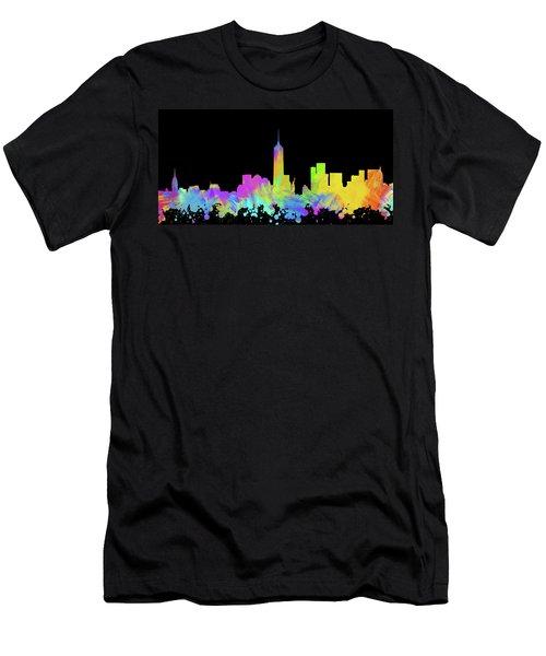 New York City Skyline Silhouette Vi Men's T-Shirt (Athletic Fit)