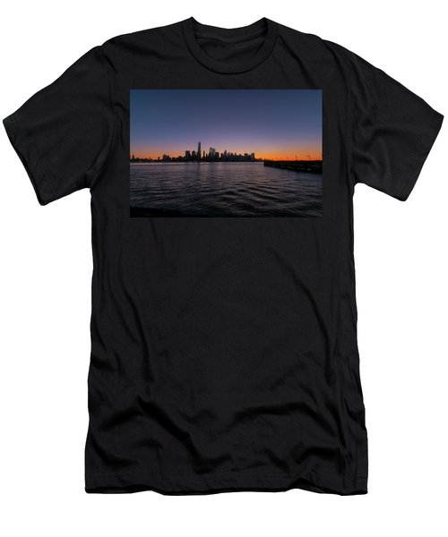 Men's T-Shirt (Athletic Fit) featuring the photograph New York City Sunrise by Tom Singleton