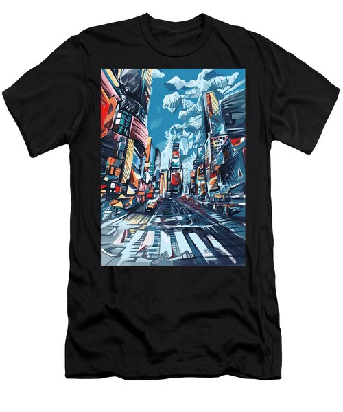 New York City-times Square Men's T-Shirt (Athletic Fit)