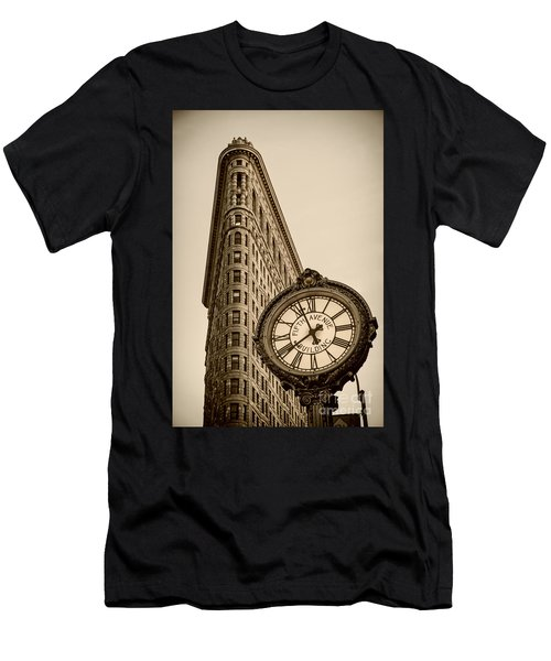 Men's T-Shirt (Athletic Fit) featuring the photograph New York Flatiron by Juergen Held