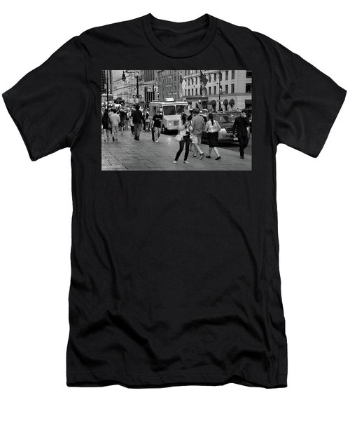Men's T-Shirt (Athletic Fit) featuring the photograph New York, New York 19 by Ron Cline