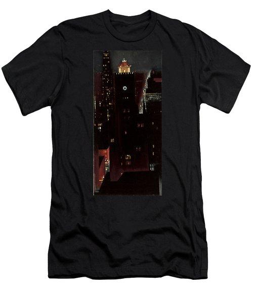 New York, Night, Men's T-Shirt (Athletic Fit)