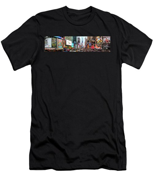 New York Times Square Panorama Men's T-Shirt (Athletic Fit)