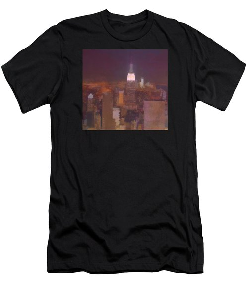 New York View Top Of The Rock  Men's T-Shirt (Athletic Fit)