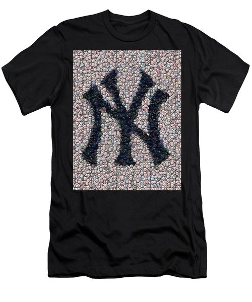 New York Yankees Bottle Cap Mosaic Men's T-Shirt (Athletic Fit)