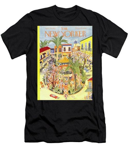 New Yorker April 25 1953 Men's T-Shirt (Athletic Fit)