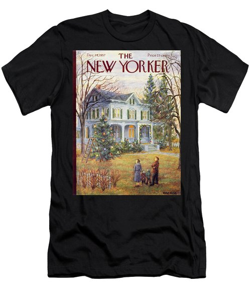 New Yorker December 14 1957 Men's T-Shirt (Athletic Fit)