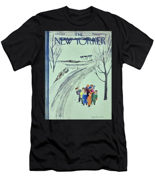 New Yorker February 1 1958 Men's T-Shirt (Athletic Fit)