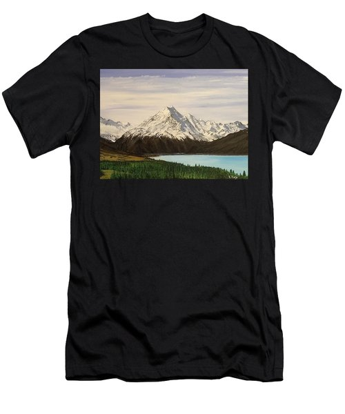 New Zealand Lake Men's T-Shirt (Athletic Fit)