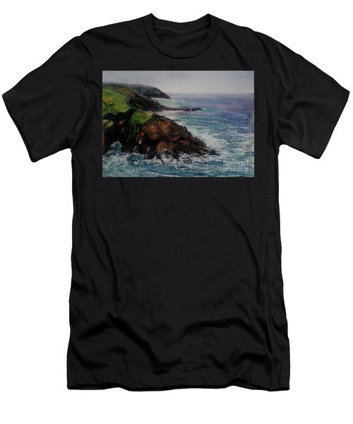 Newlyn Cliffs 2 Men's T-Shirt (Slim Fit) by Genevieve Brown