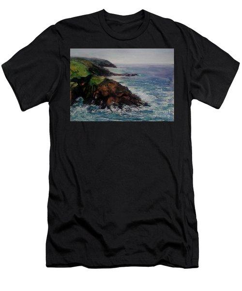 Newlyn Cliffs 2 Men's T-Shirt (Athletic Fit)