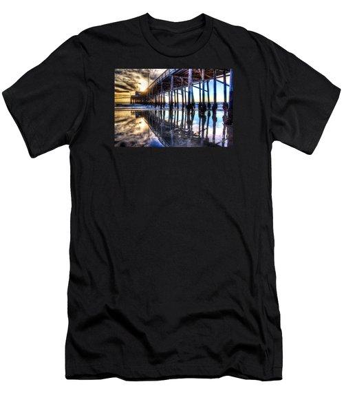 Newport Beach Pier - Reflections Men's T-Shirt (Athletic Fit)