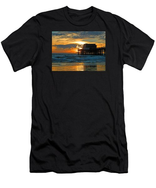 Newport Pier,  California Men's T-Shirt (Athletic Fit)