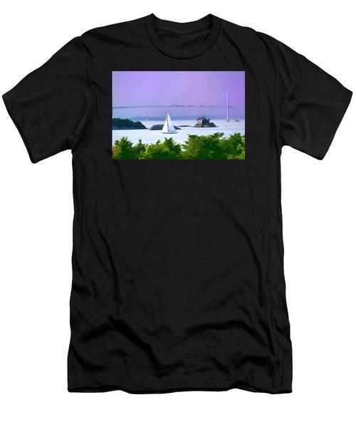 Newport Water Color Effect Men's T-Shirt (Slim Fit) by Tom Prendergast