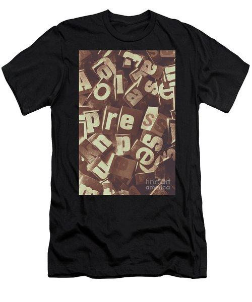 Newsprint Journalism Men's T-Shirt (Athletic Fit)