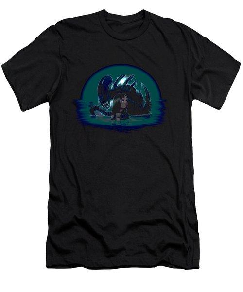 Newt In Danger Men's T-Shirt (Slim Fit) by Ian King