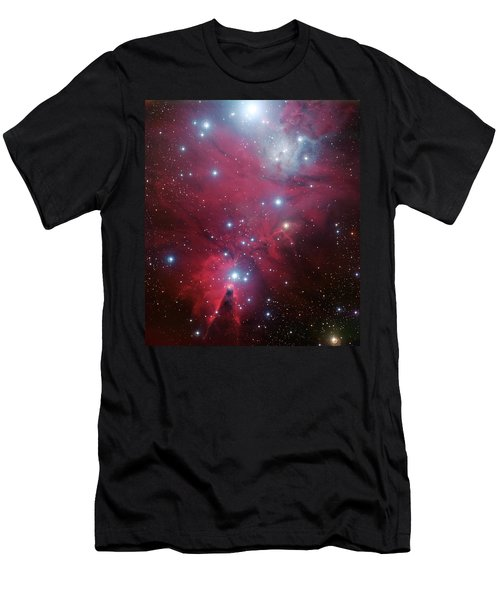 Men's T-Shirt (Slim Fit) featuring the photograph Ngc 2264 And The Christmas Tree Star Cluster by Eso