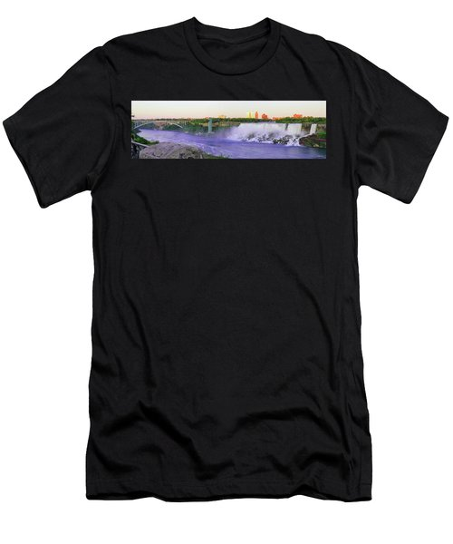 Niagara Falls At Dusk Men's T-Shirt (Athletic Fit)