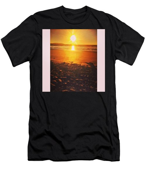 Nice Glow To The Beach. #beach #sunset Men's T-Shirt (Athletic Fit)