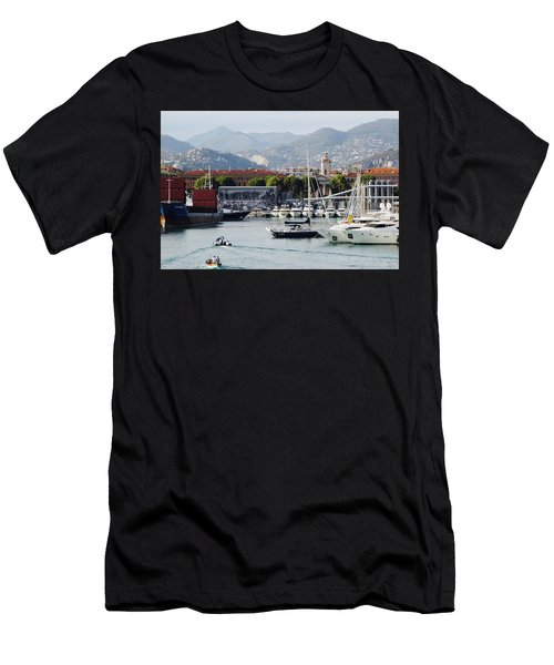 Men's T-Shirt (Athletic Fit) featuring the photograph Nice Harbour Life by Rasma Bertz