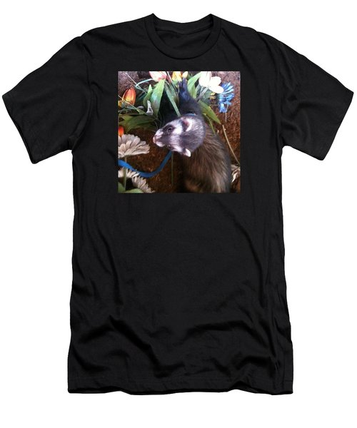 Nicky Wants This Flower Men's T-Shirt (Slim Fit) by Anna Porter