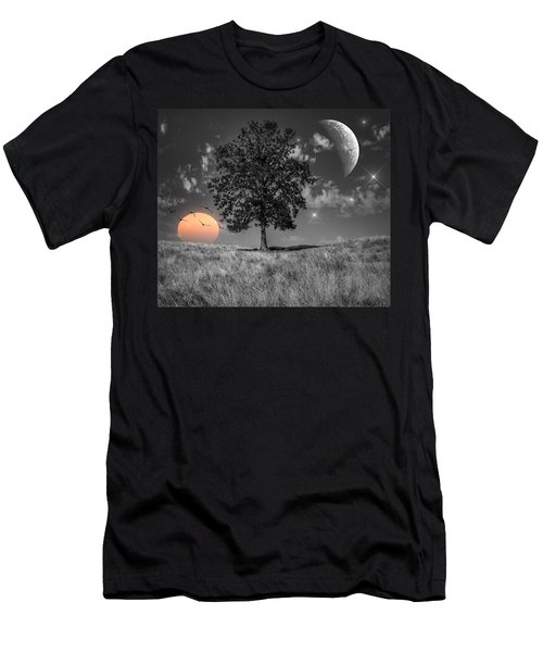 Men's T-Shirt (Athletic Fit) featuring the photograph Night And Day by Marianna Mills