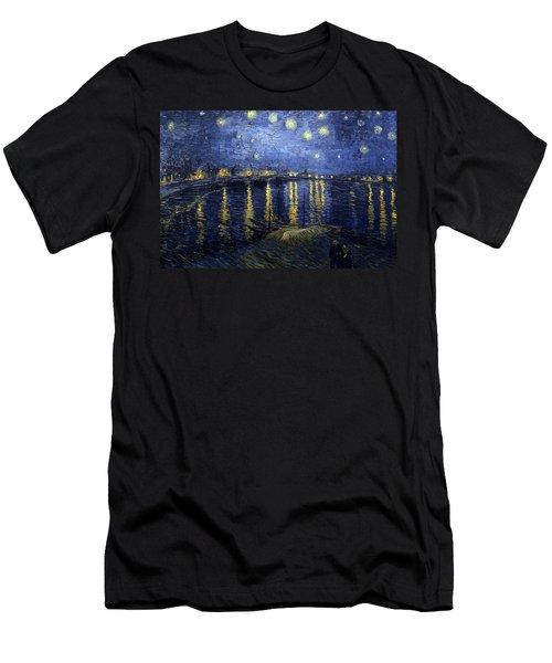 Night At The Lake Men's T-Shirt (Slim Fit) by Sumit Mehndiratta