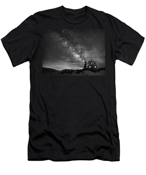 Night At The Station Men's T-Shirt (Athletic Fit)
