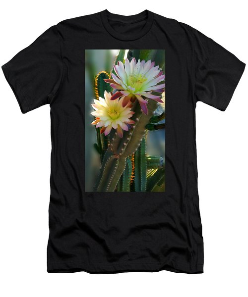 Men's T-Shirt (Slim Fit) featuring the photograph Night-blooming Cereus 4 by Marilyn Smith